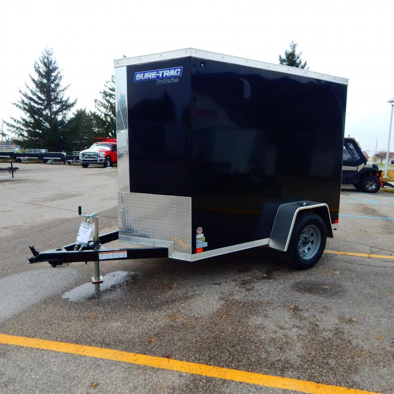 2020 Sure-Trac 5x8 Pro-Series Wedge 3k Enclosed Cargo Trailer
