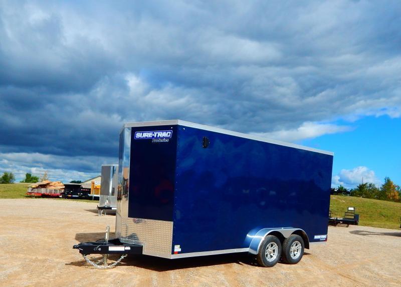 2020 Sure-Trac 7x16 7k Pro-Series Wedge Enclosed Cargo Trailer