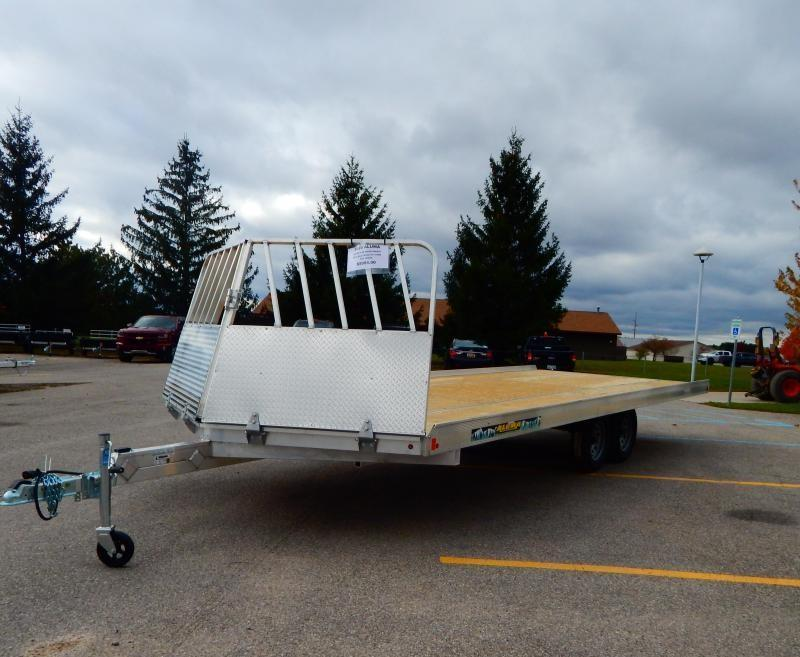 2020 Aluma 8.5x22 4.4k Drive On/Off Snowmobile Trailer