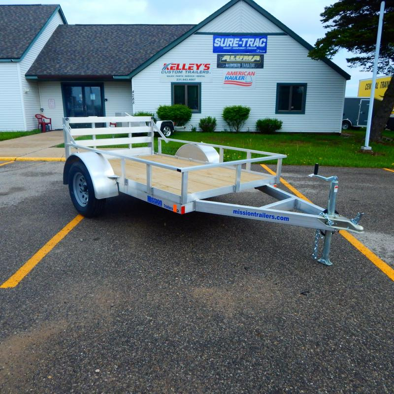 2020 Mission 5x8 3k Tube Top Utility Trailer