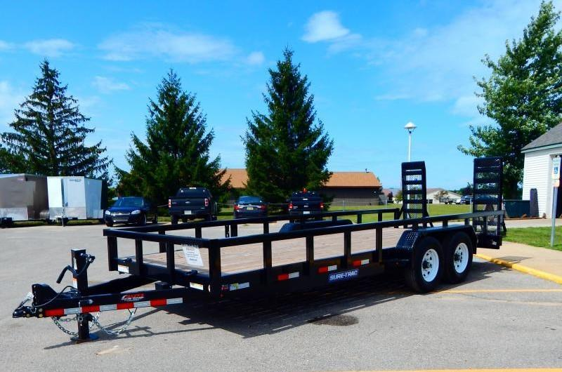 2019 Sure-Trac 7 x 20 14K Heavy Duty Equipment Trailer