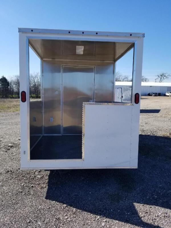 2019 SALVATION 7x16 BBQ PORCH CONCESSIN Vending / Concession Trailer