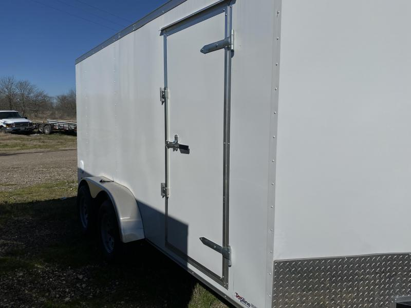 2020 Salvation Trailers 7X14TA-WHITE Enclosed Cargo Trailer