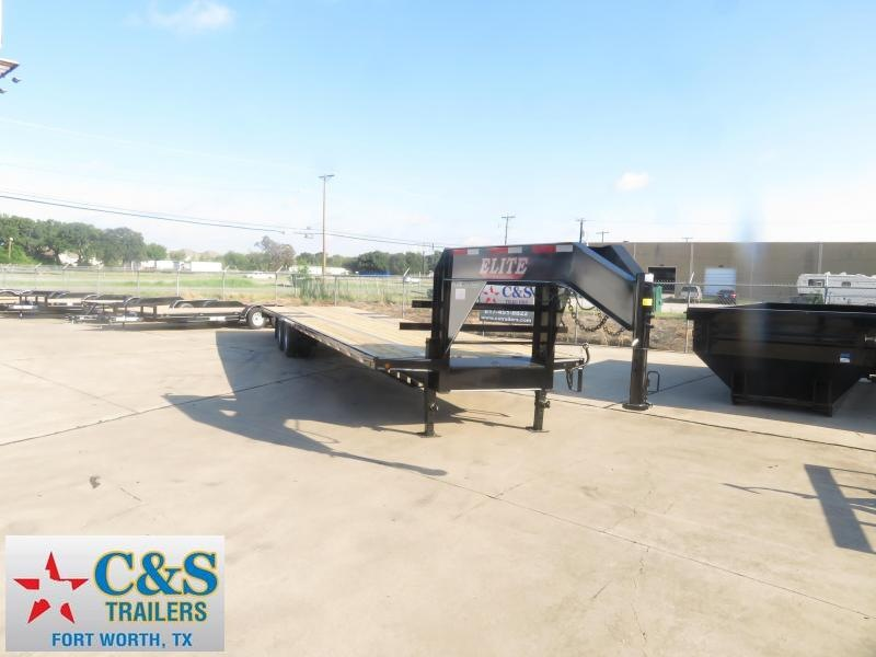 2019 Elite Trailers 102 x 40 Flatbed Trailer