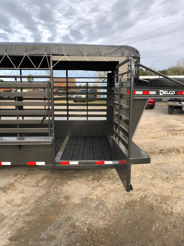 2019 Delco Trailers 80x24 GNTA Livestock Trailer