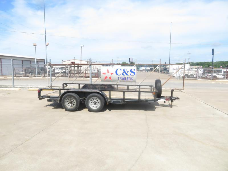 "Rental 62 - Diamond C 77"" x 14' Utility Trailer"