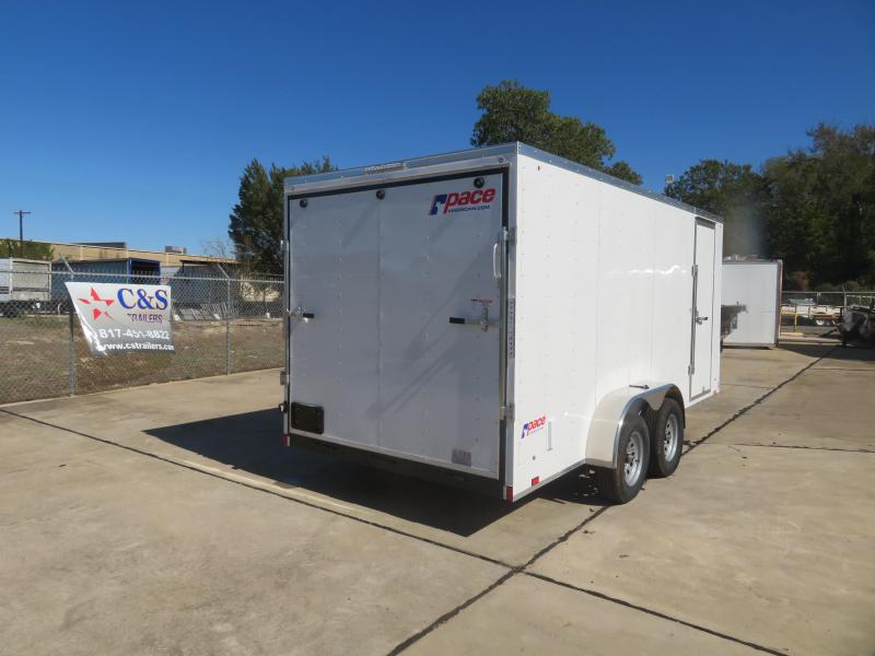 2020 Pace American 7 X 16 Enclosed Cargo Trailer