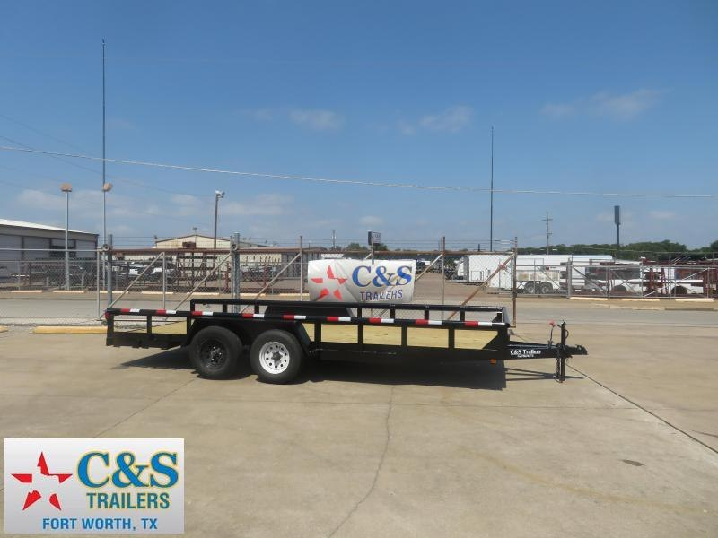 Rental 43 - 2018 C&S 77 x 18 Utility Trailer
