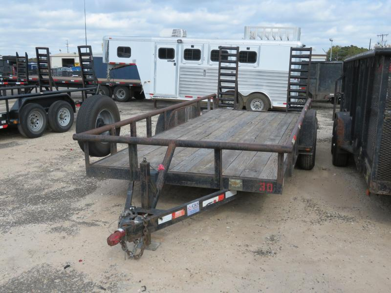 "Rental 30 - C & S 83"" x 18' Equipment Trailer"