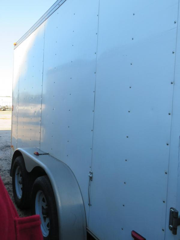 "Rental 50 - Haulmark 80"" x 15 1/2'  (12') V-Nose Enclosed Cargo Trailer"