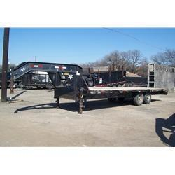 "Rental 47 - PJ 101"" x 24'  Goose Neck Equipment Trailer"