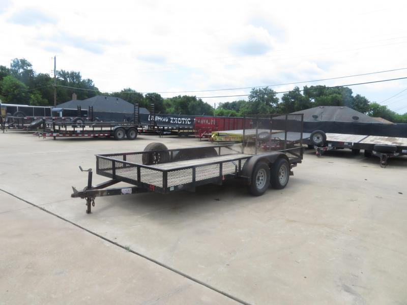 "Rental 44 - Homemade 16' x 76"" Flatbed Utility Trailer"