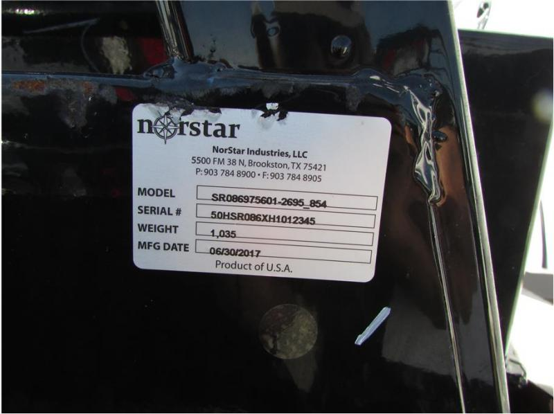 "2017 Norstar SR Bed 8""6"" x 97"" CTA 56"" DIAMOND PLATE"