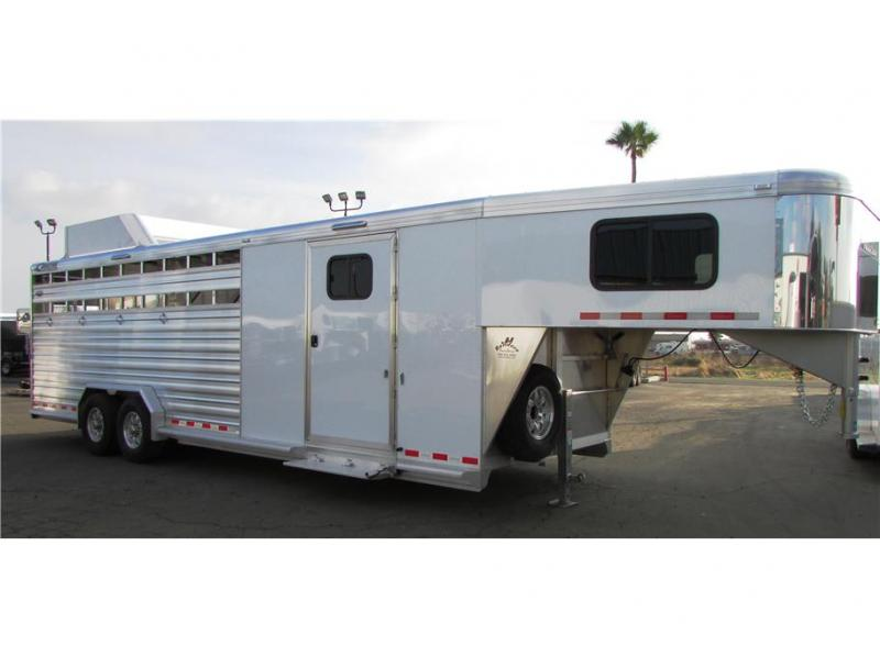 "2020 Cimarron Trailers Lonstar Stock GN 27'x7'6"" dbl tack"