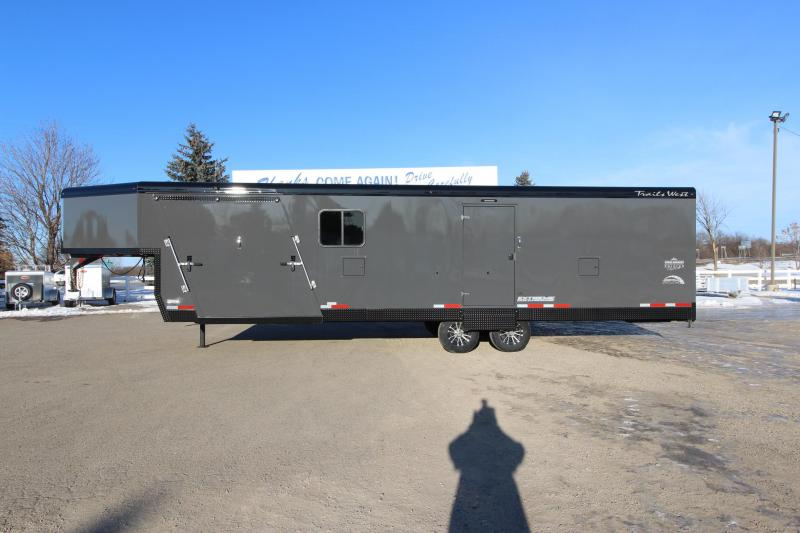 2020 Trails West Manufacturing RPM 28' GN Snowmobile Trailer