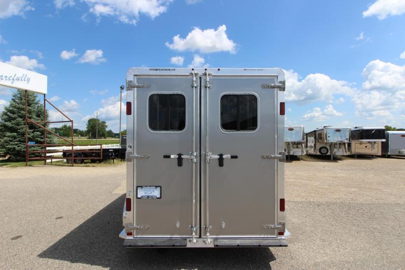 "2020 Featherlite 9409 2HR 24"" D/R BP Horse Trailer"