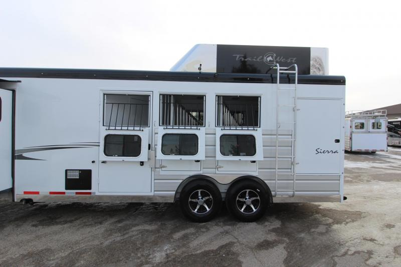 2019 Trails West Manufacturing 3HR 13' LQ Horse Trailer