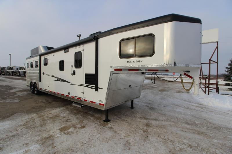 2019 Trails West Manufacturing 3HR 13' LQ Horse Trailer