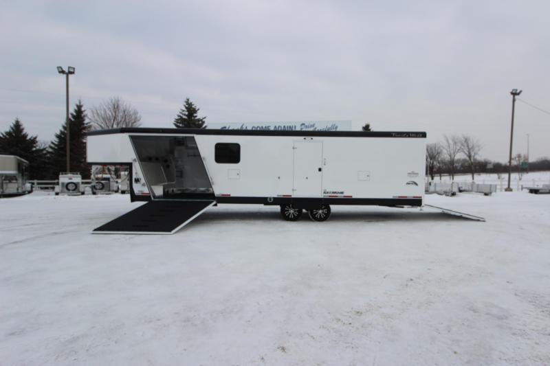 2020 Trails West Manufacturing RPM 28' GN w/Fuel Cell Snowmobile Trailer