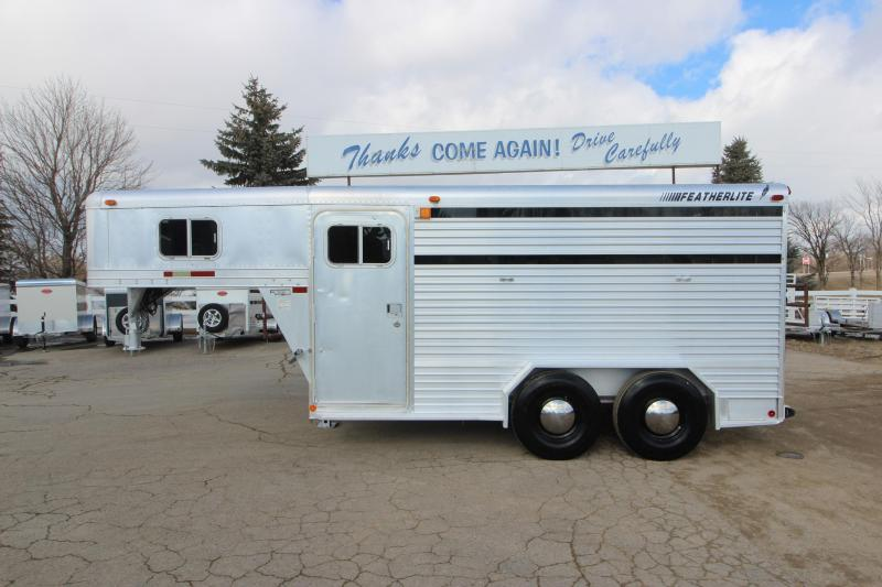 1992 Featherlite 3HR GN Stock Combo Horse Trailer