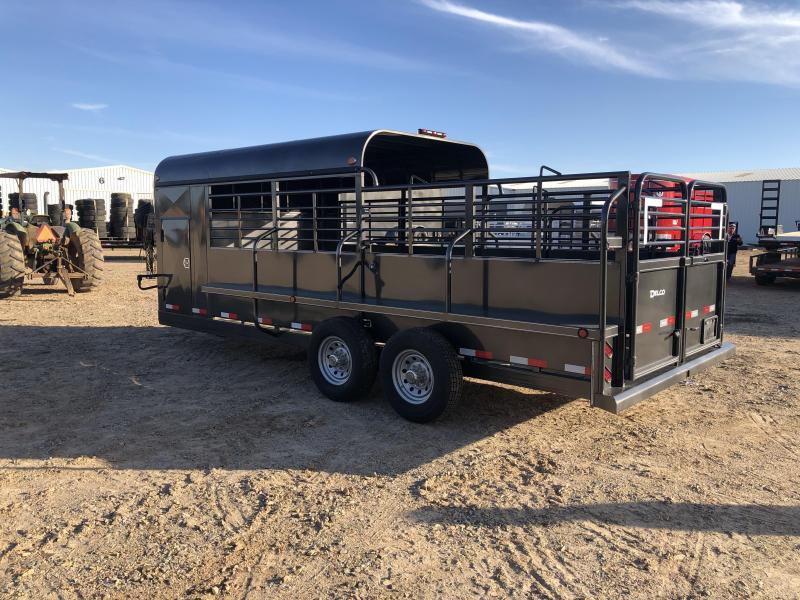 2020 Delco Trailers GP682027 Livestock Trailer