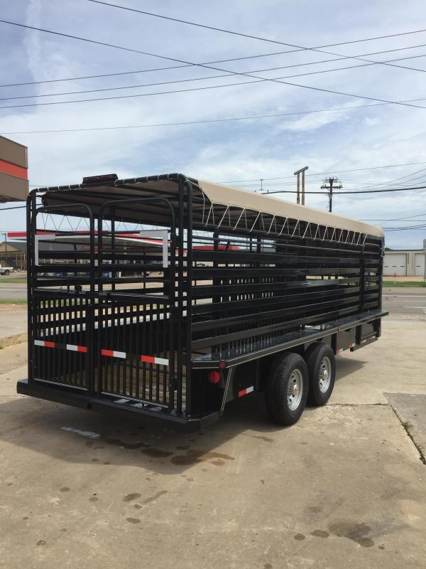 2020 Delco Trailers GB68X2027K Livestock Trailer