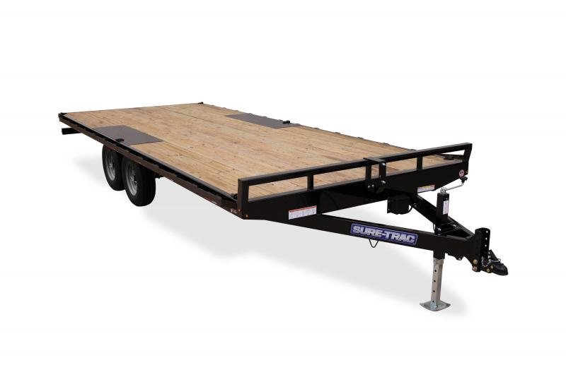 2020 Sure-Trac 8.5X18 FLATBED DECKOVER LP 10K Equipment Trailer