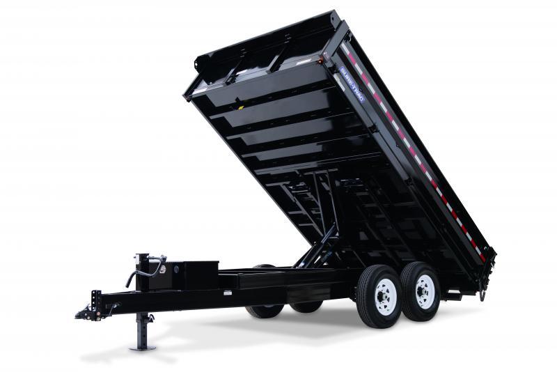 2020 Sure-Trac 8X16 DECKOVER FOLD DOWN SIDES 14K Dump Trailer