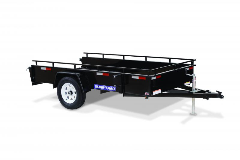2020 Sure-Trac 5 x 8 STEEL HIGH SIDE Utility Trailer