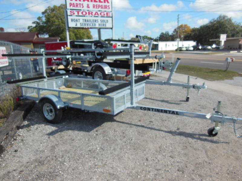 Continental Trailers KT4815 Galvanized Kayak Watercraft Trailer