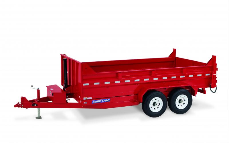 2020 Sure-Trac 7X12 TA 12K TELESCOPIC Dump Trailer