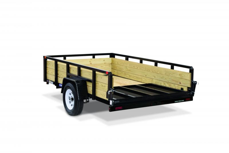2020 Sure-Trac 6 x 12 SA 3 BOARD HIGH SIDE Utility Trailer