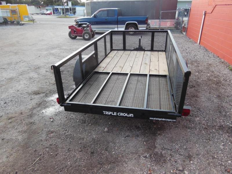 Triple Crown  Open 5 x 10 Utility Trailer w/2' sides