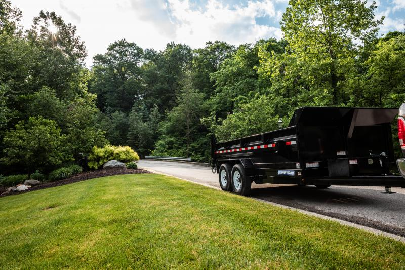 2020 Sure-Trac 7X16 SCISSOR LIFT 14K Dump Trailer