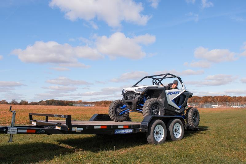 2020 Sure-Trac 7 x 18 Wood Deck Car / Racing Trailer