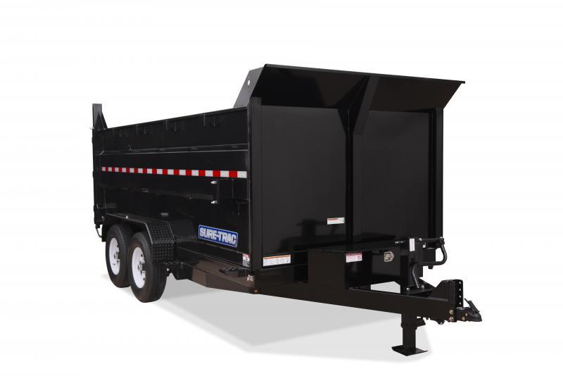 2020 Sure-Trac 7x12 4' SIDES 14K Dump Trailer