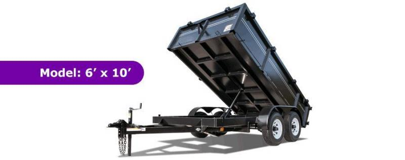6 X 10 TRIPLE CROWN Lowrider Style Dump Trailer