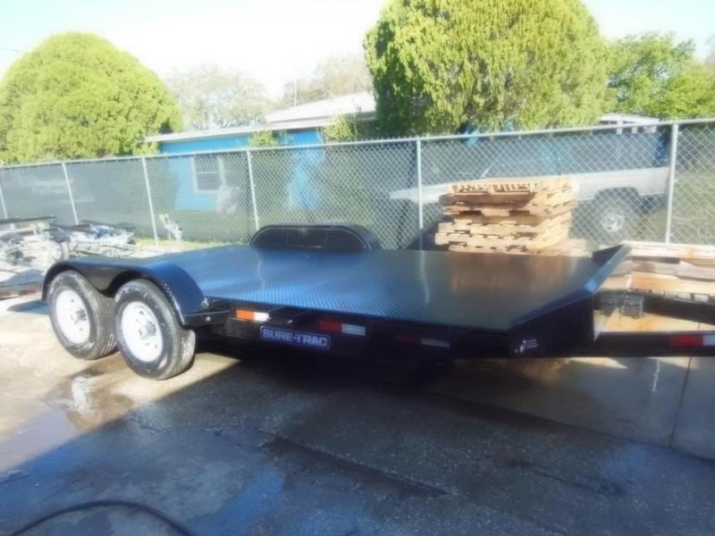 Sure-Trac 7 x 18 Steel Deck Car Hauler 10k