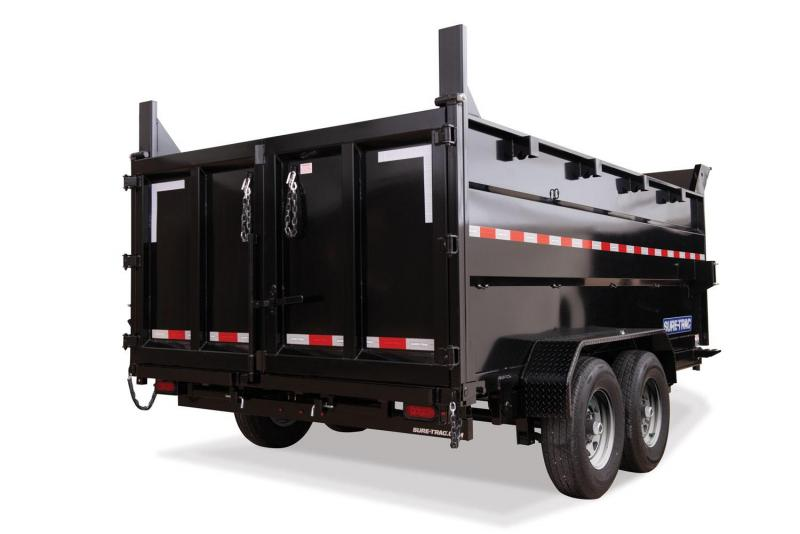 2020 Sure-Trac 7X14 TELESCOPIC 4'SIDES 14K Dump Trailer