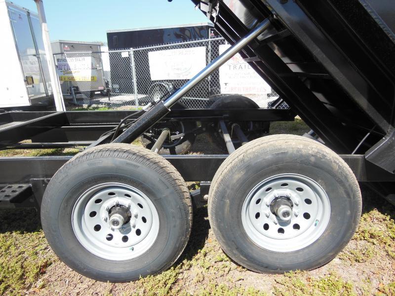 Sure-Trac 7 X 14 W/4' SIDES 14K Dual Ram Dump