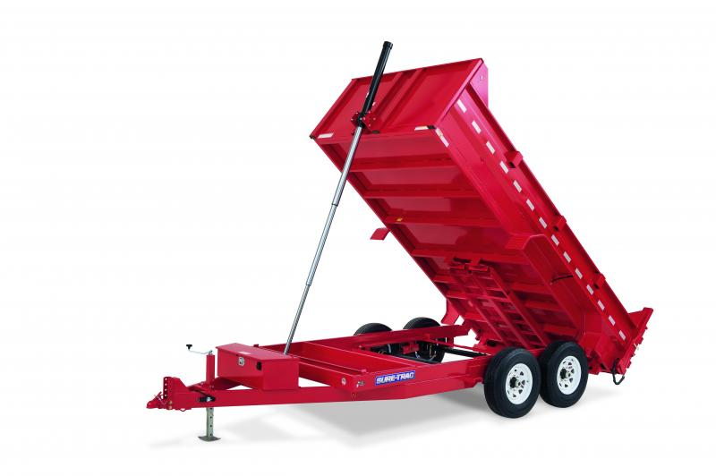 2020 Sure-Trac 7X16 TELESCOPIC 16K Dump Trailer