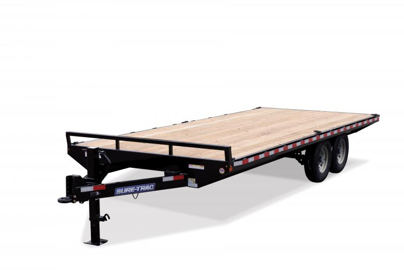 2020 Sure-Trac 8.5X18 SD FLATBED DECKOVER 15K Equipment Trailer