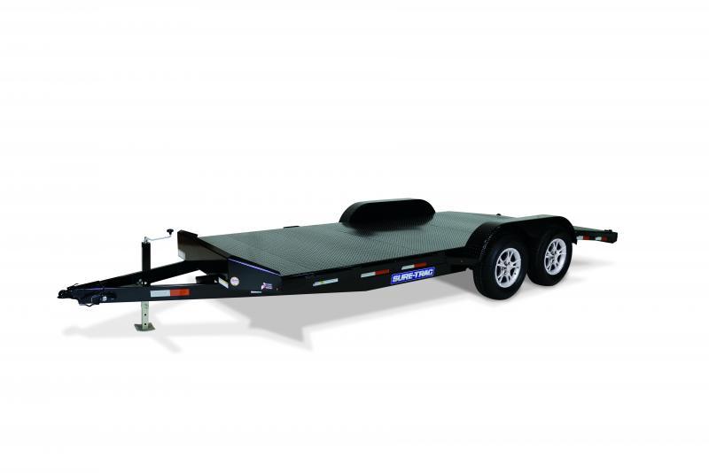 2020 Sure-Trac 7X18 STEEL DECK 10K Car / Racing Trailer