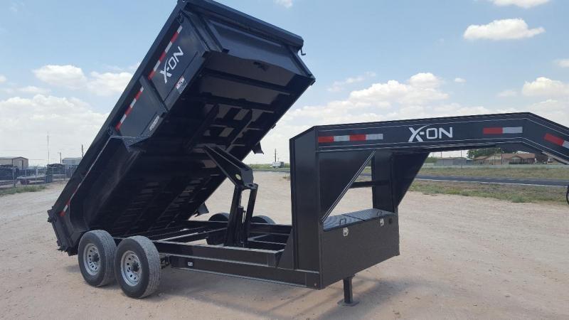 """2018 X-ON 83"""" x 12' Gooseneck Dump Trailer"""