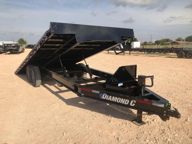 "2019 Diamond C Trailers 22'X102"" Flatbed Tilt Trailer"