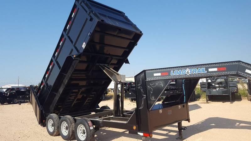"2020 Load Trail 83""x 16' Gooseneck Dump Triple Axle 21K Gvw"