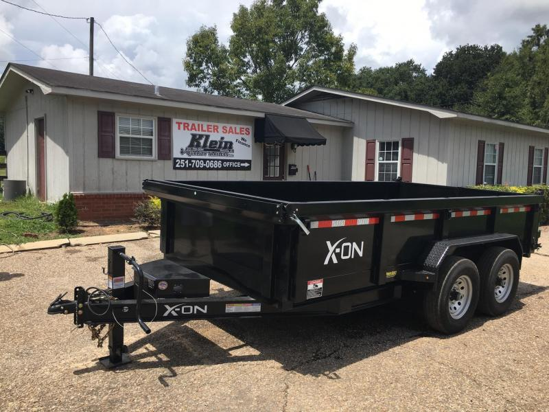 2020 X-On 83x14 Bumper Pull Dump Trailer