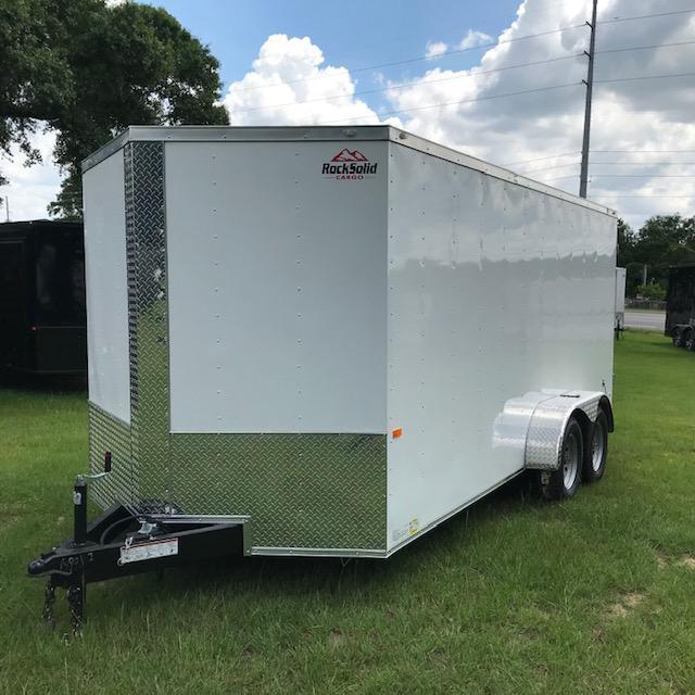 2020 Rock Solid Cargo 7X16 Tandem Axle Enclosed Cargo Trailer