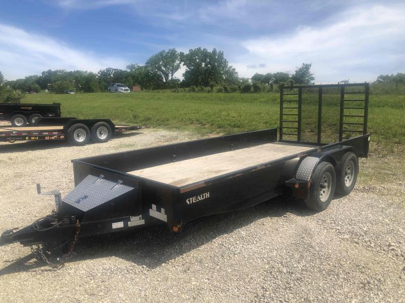 Used 2013 Rice Trailers 77x14 Tandem Axle Utility