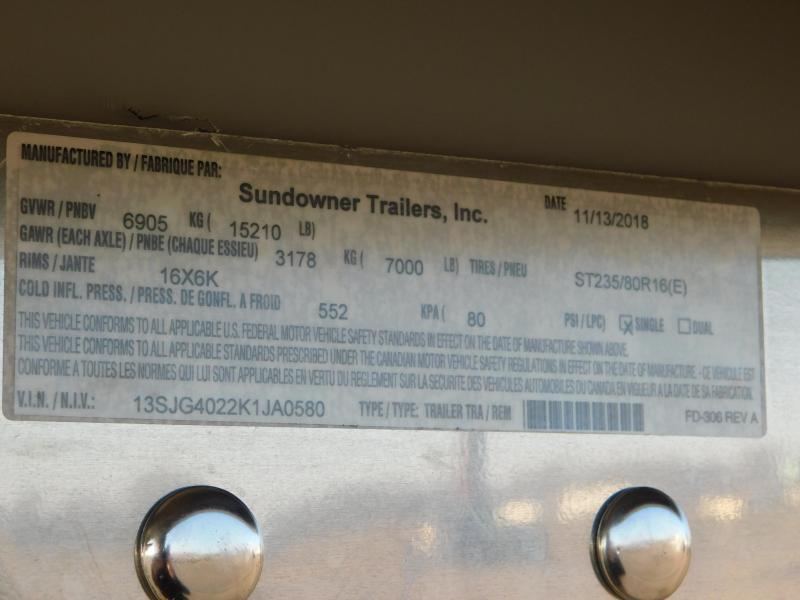 2019 Sundowner 1786GM 40' Toy/Car Hauler w/LQ